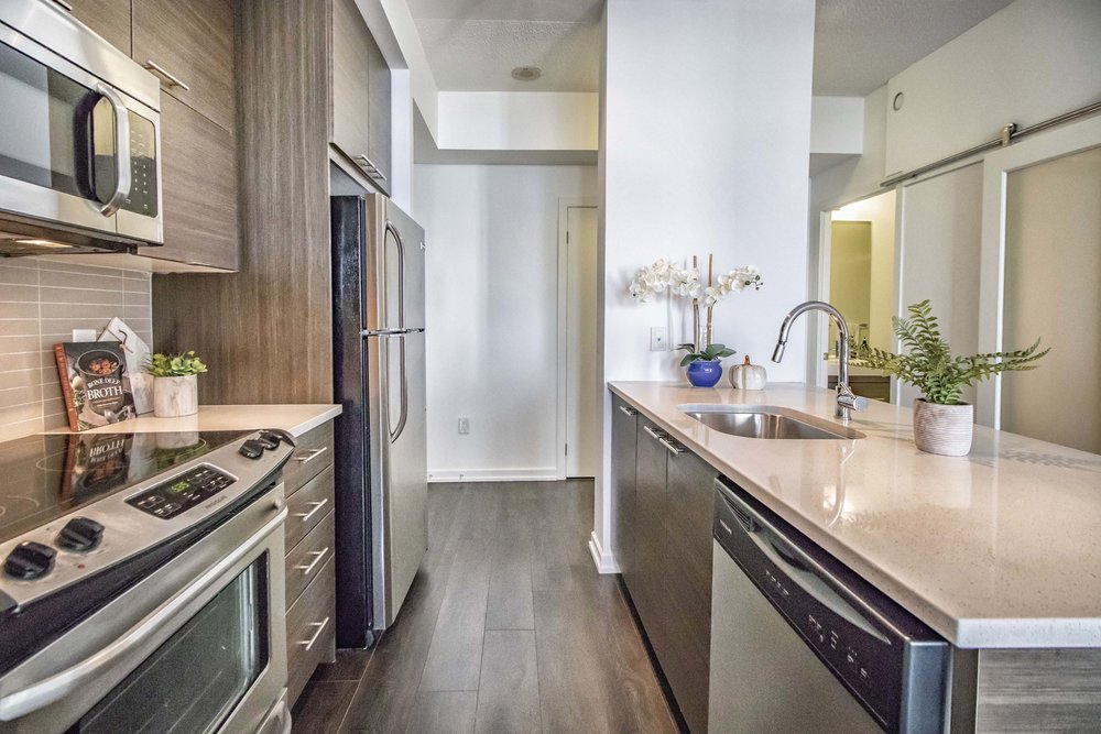Emerald City II Toronto GTA North York vacant condo staging home stager | Classy Glam Staging 6