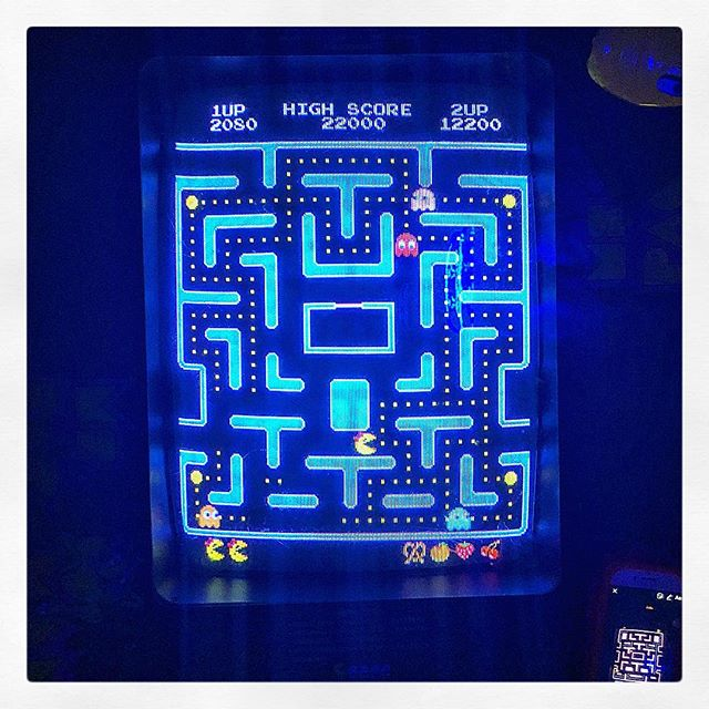 @tittydirtymoney destroying me at Pac-Man. Just trying to recover from her handing me fatalities at Mortal Kombat