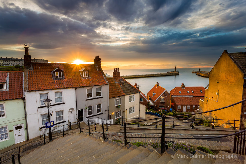 Whitby Sunset Over The Roof Top.