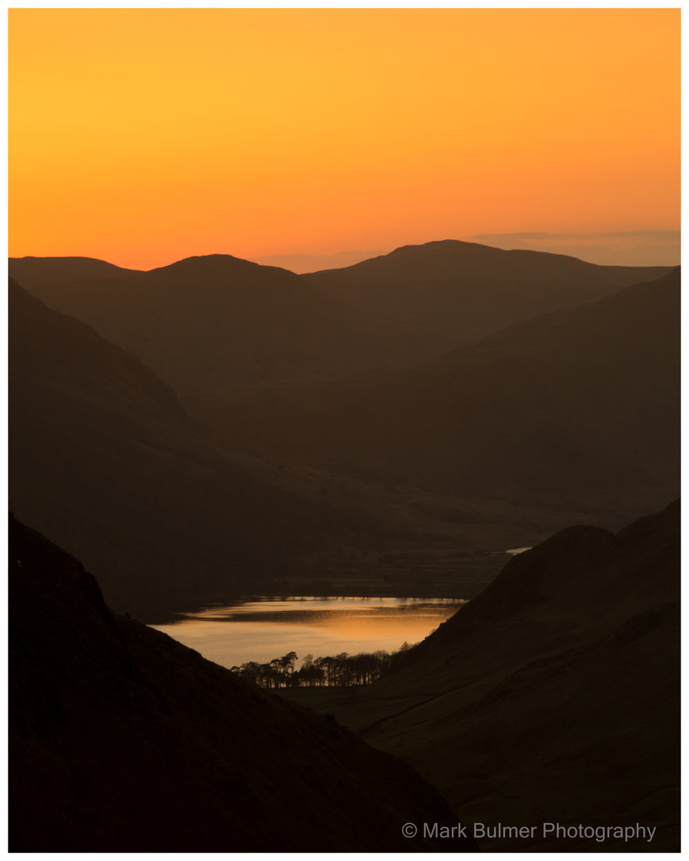 Sunset over Honister Pass