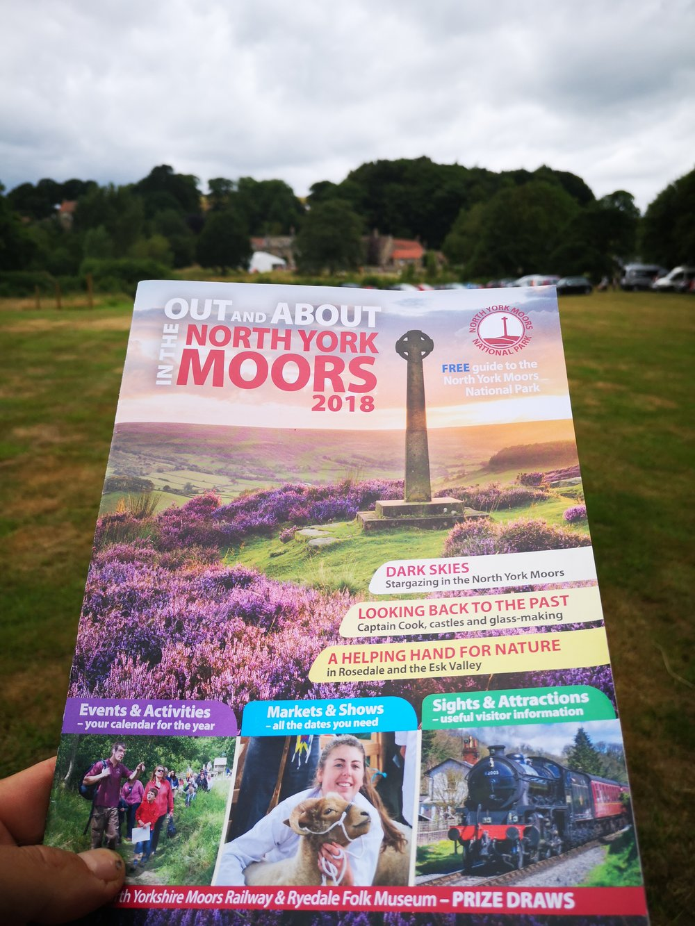 Photographer for the North York Moors 2017-18 - Supplied images for the North York Moors National Park magazine 2018 with front cover feature of the Millennium cross surrounded by heather at sunset.