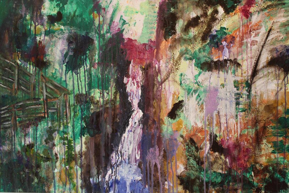 Foraoise Rúnda   Acrylic on Canvas  27X39 Inches  $440 (Including Frame)
