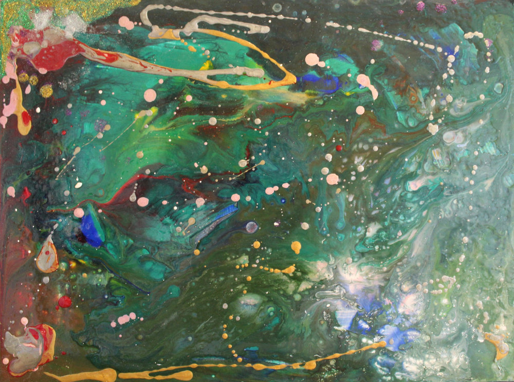 Storm Iona   Acrylic and Mixed Media on Panel  17.5X23.5 Inches  $200