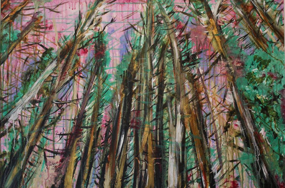 Rian Rúnda   Acrylic on Canvas  27X39 Inches  $440 (Including Frame)