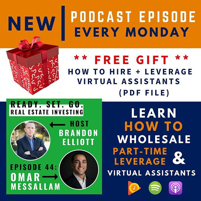 "🎙Search: ""Ready. Set. Go. Real Estate Investing"" #podcast —— Thank you @omarmessallam for sharing your wisdom and providing us a FREE GUIDE on: HOW TO HIRE + LEVERAGE VIRTUAL ASSISTANTS 🙌 —— ‼️People think that you need a lot of money to start but that is just another excuse, MESSAGE ME right now to learn how you can INVEST in #realestate TODAY 🏚🏘💰 —— 💰➡️ ""LINK IN BIO"" for ""LEAD GENERATIONS COURSE"""