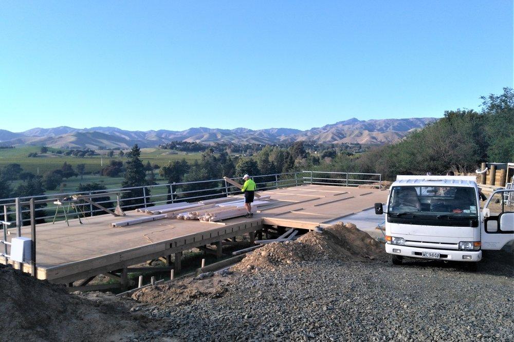 Unloading the pre-engineered modular kit on site