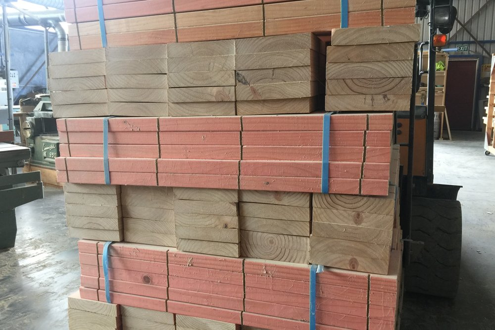 Timber pre cut ready for delivery