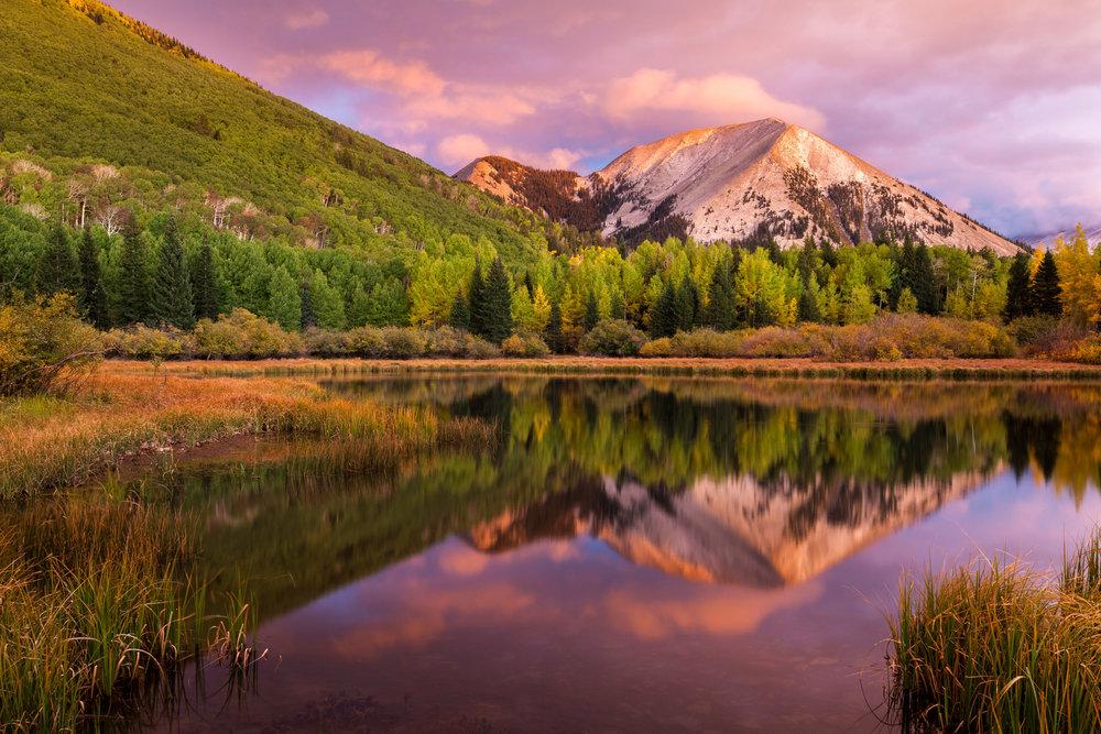 Autumn Sunset at Warner Lake, Utah