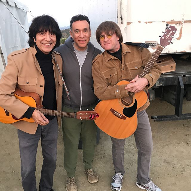 So a last minute booking and we show up and we end up playing for Fred Armisen and John C Reilly and their film crew today. What a trip!! #coolexperience