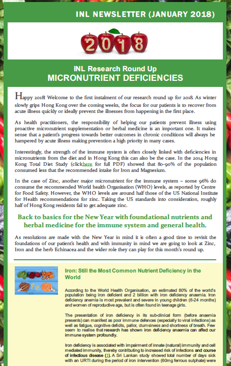 Click below to download:  INL Newsletter (Jan 2018) Nutrient Deficiencies