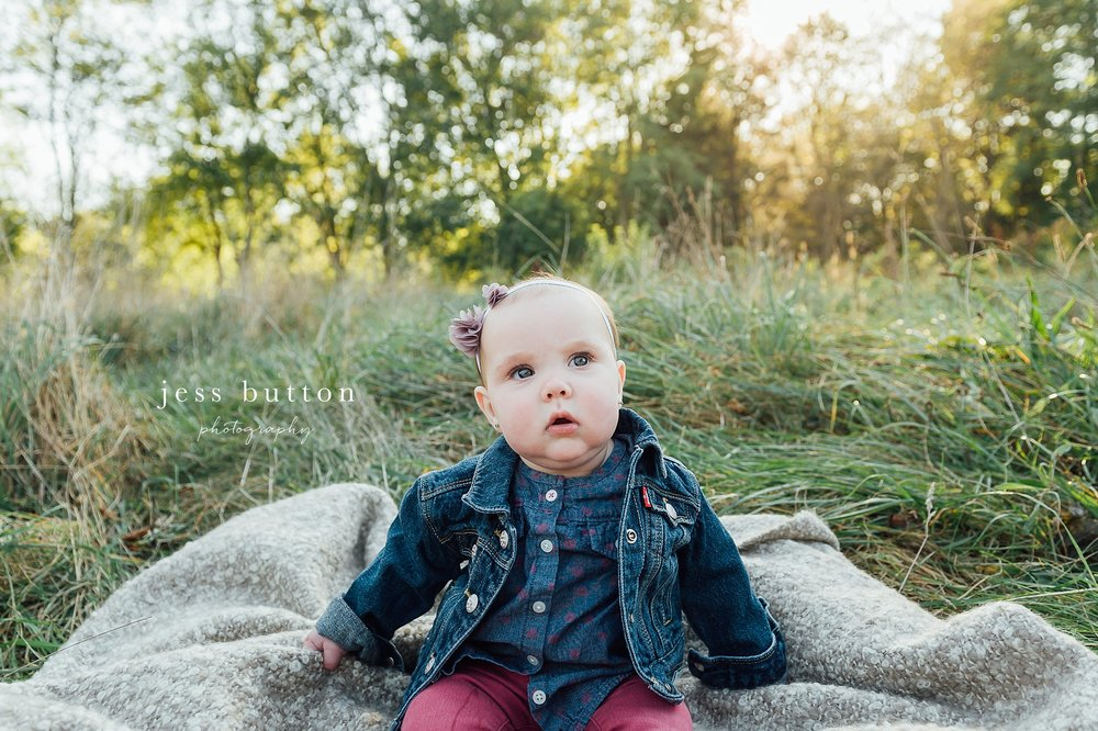Niagara Family Photographer - Fall family portraits Niagara-on-the-Lake - 10 month old baby girl