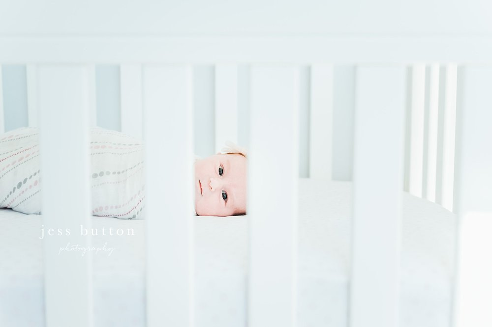 Niagara Newborn Photographer - baby girl in crib