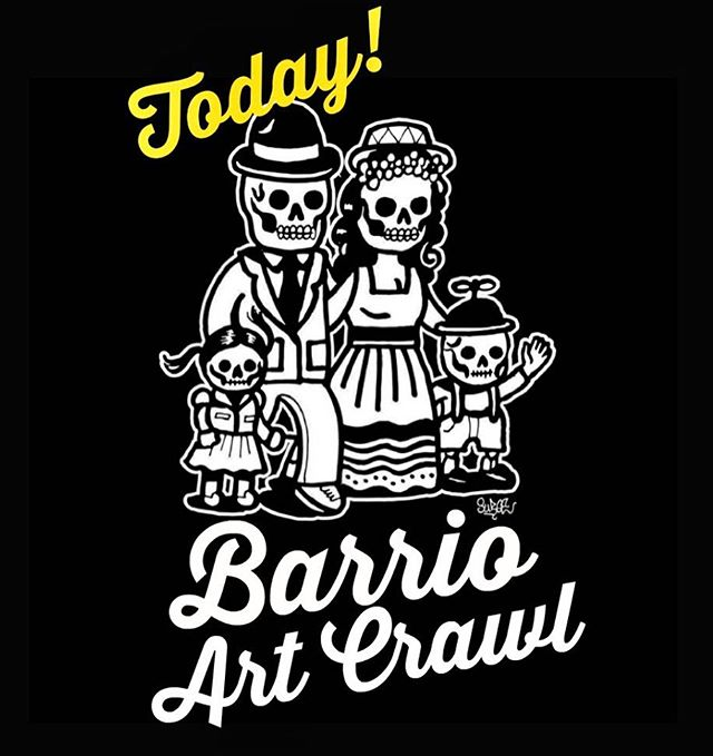 🗣Today is the day! Lots of fun things happening in the Barrio for this months Art Crawl. Free admission and open to all ages, so bring the whole fam! 📸Be sure to tag us in your pics #barrioartcrawl *If you are visiting a specific business please be sure to check operating hours.  #barriologan #sd #92113 #619 #art #artcommunity #artsdistrict #artshow #barriologanculturaldistrict #barrioartcrawl