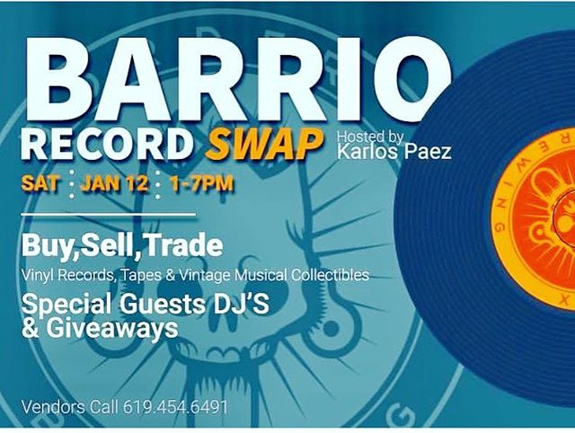 Come out this Saturday for Barrio Record Swap at @borderxbrewing hosted by  Karlos Paez. Lots of fun things going on for the Barrio Art Crawl this Saturday. Bring the whole fam! www.barrioartcrawl.com --- #barriologan #loganheights #619 #art #artcommunity #artsdistrict #artshow #barriologanculturaldistrict #sdartist #barrioartcrawl #sandiego