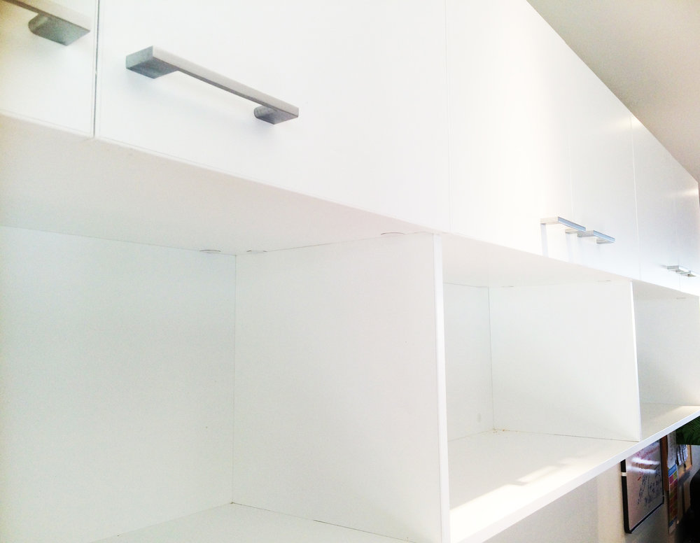 Shelves with lots of storage potential