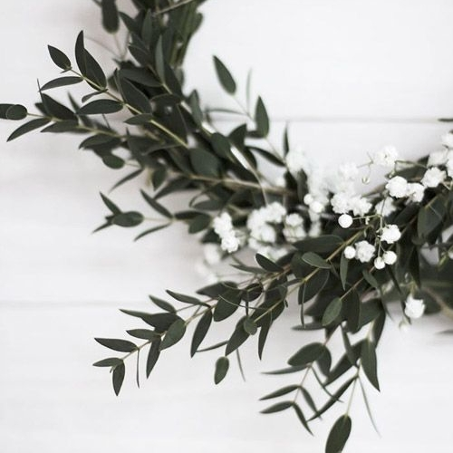 Home Crafted Wreath - Get out in the garden and collect some foliage to make your own wreath around a wire hoop.