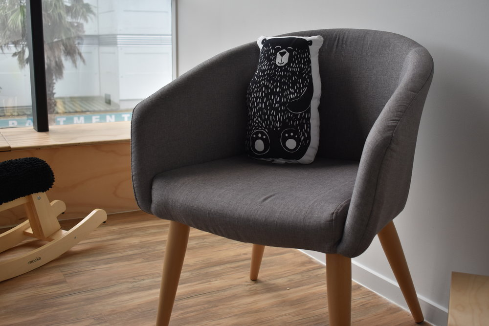 Parents Chair with Bear Cushion