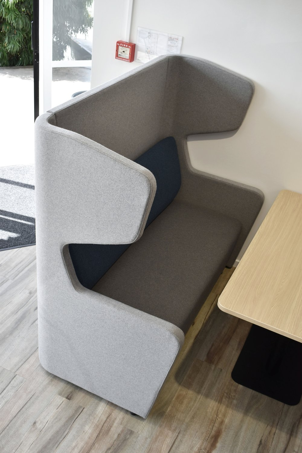 Hush Pods provide a fantastic spot for casual meetings and the high accoustic backs provide some privacy.