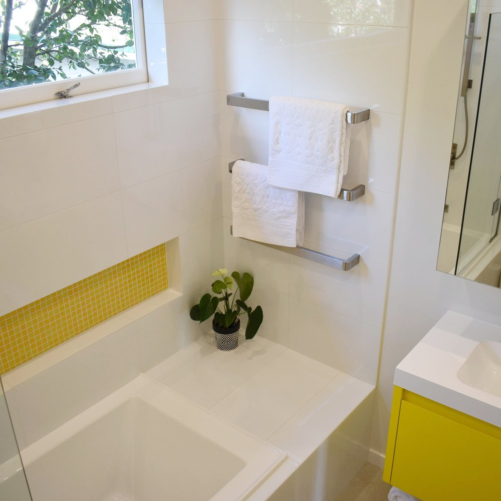 A bold bathroom - A bright bathroom with a twist...
