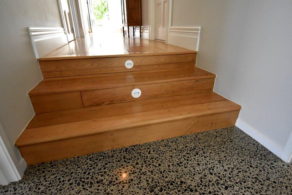 Original Villa wooden floorboards.