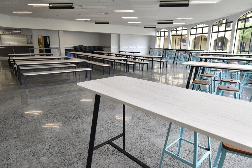 acg karaka cafeteria furniture bench seating design