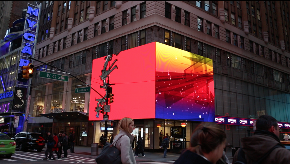 Image: Still from ZAZ10TS' commemorative video of the    24:7    project at 10 Times Square
