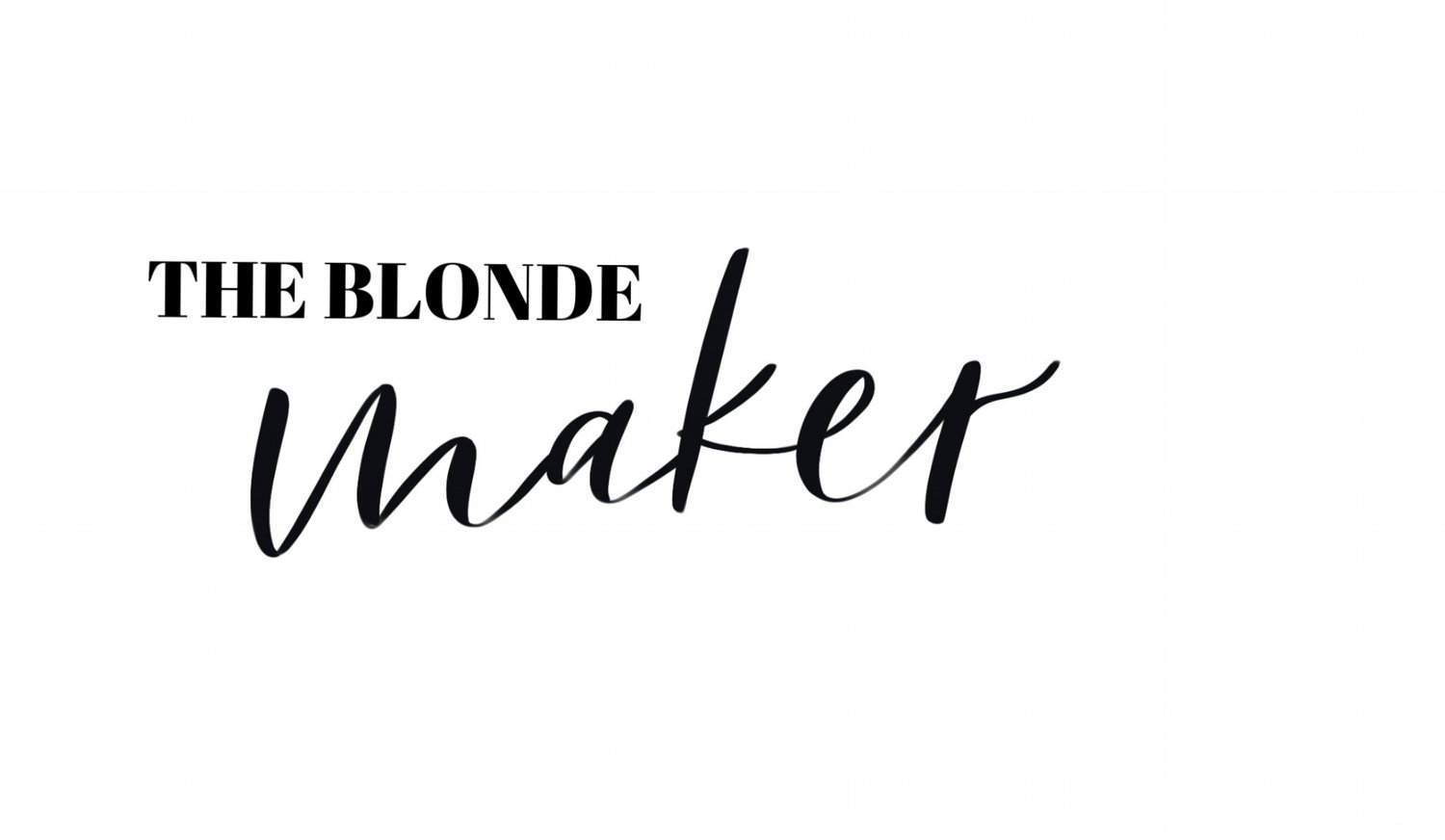 The Blonde Maker