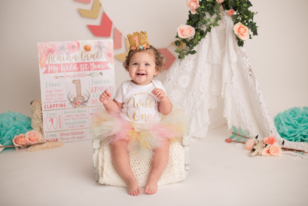 McAllen First Birthday Photos Hello Baby Studios