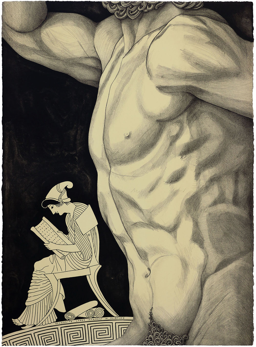 'Aphrodite Loses Interest in Flirting', 2018 560 x 760 x 50mm. Lithograph, Edition of 24.
