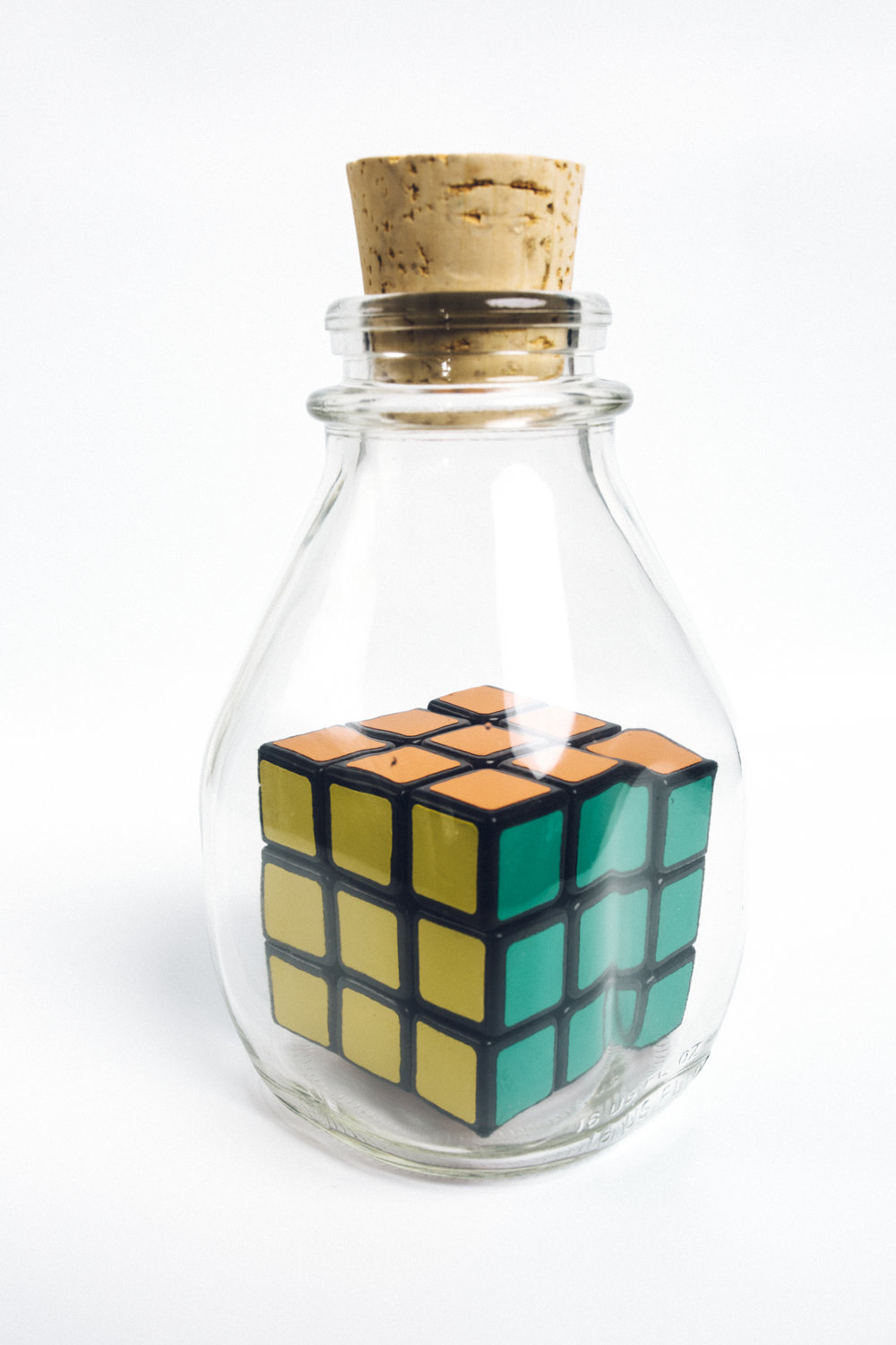 Rubik's Cube in Bottle