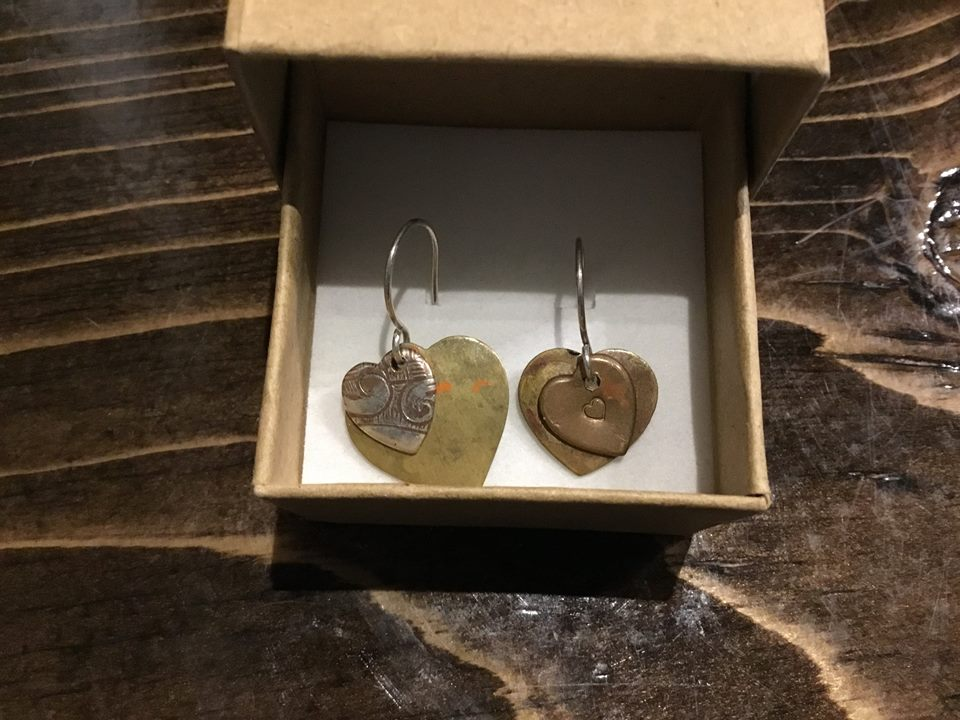 Earrings from metalsmith Kathleen Atkinson!