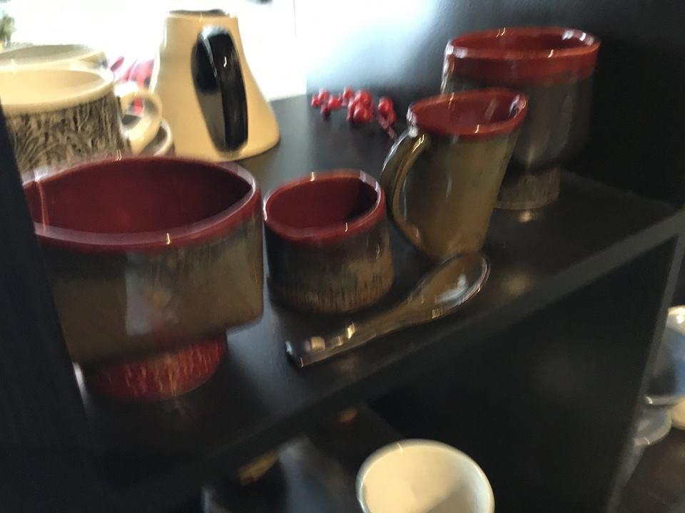 Cream & Sugar, 2 teacups from Betty Ackroyd!