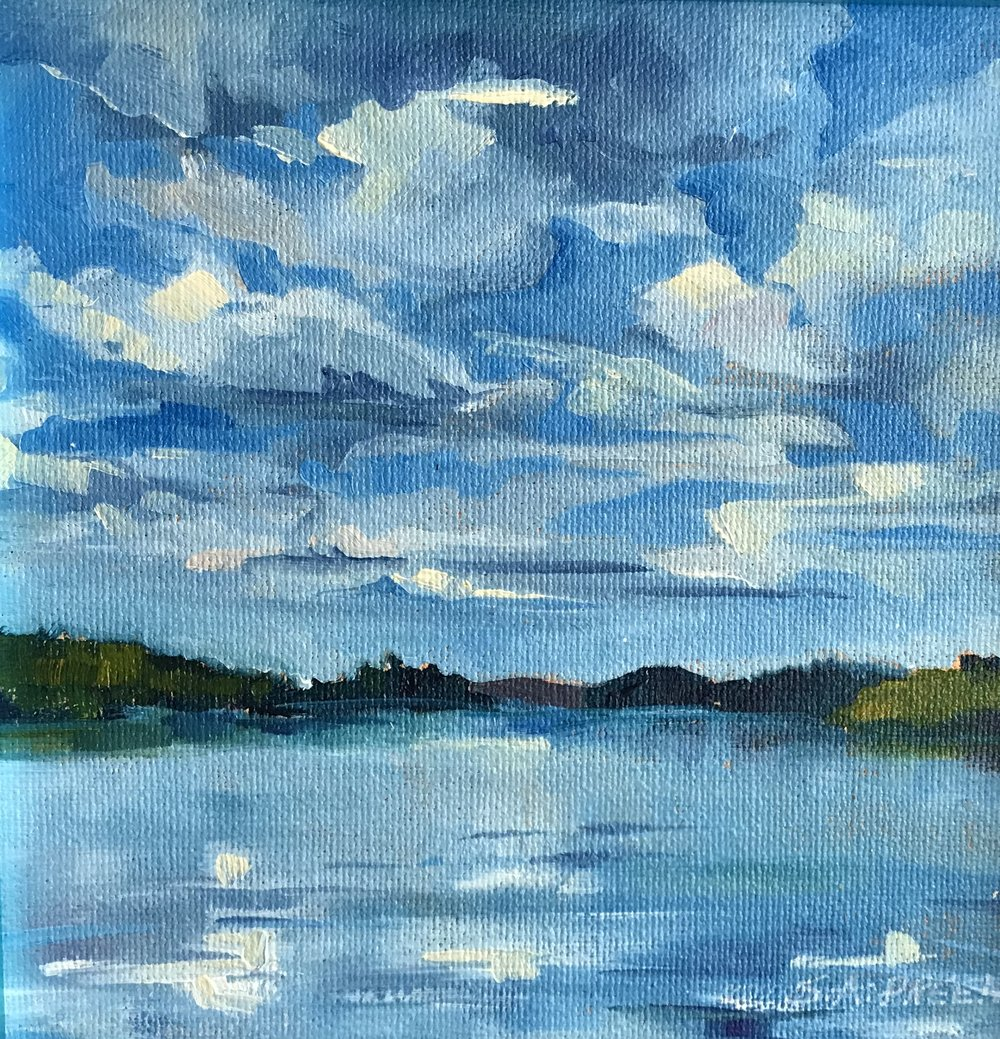 "Original Study #103  0.4"" x 0.4"", oil on canvas, framed"