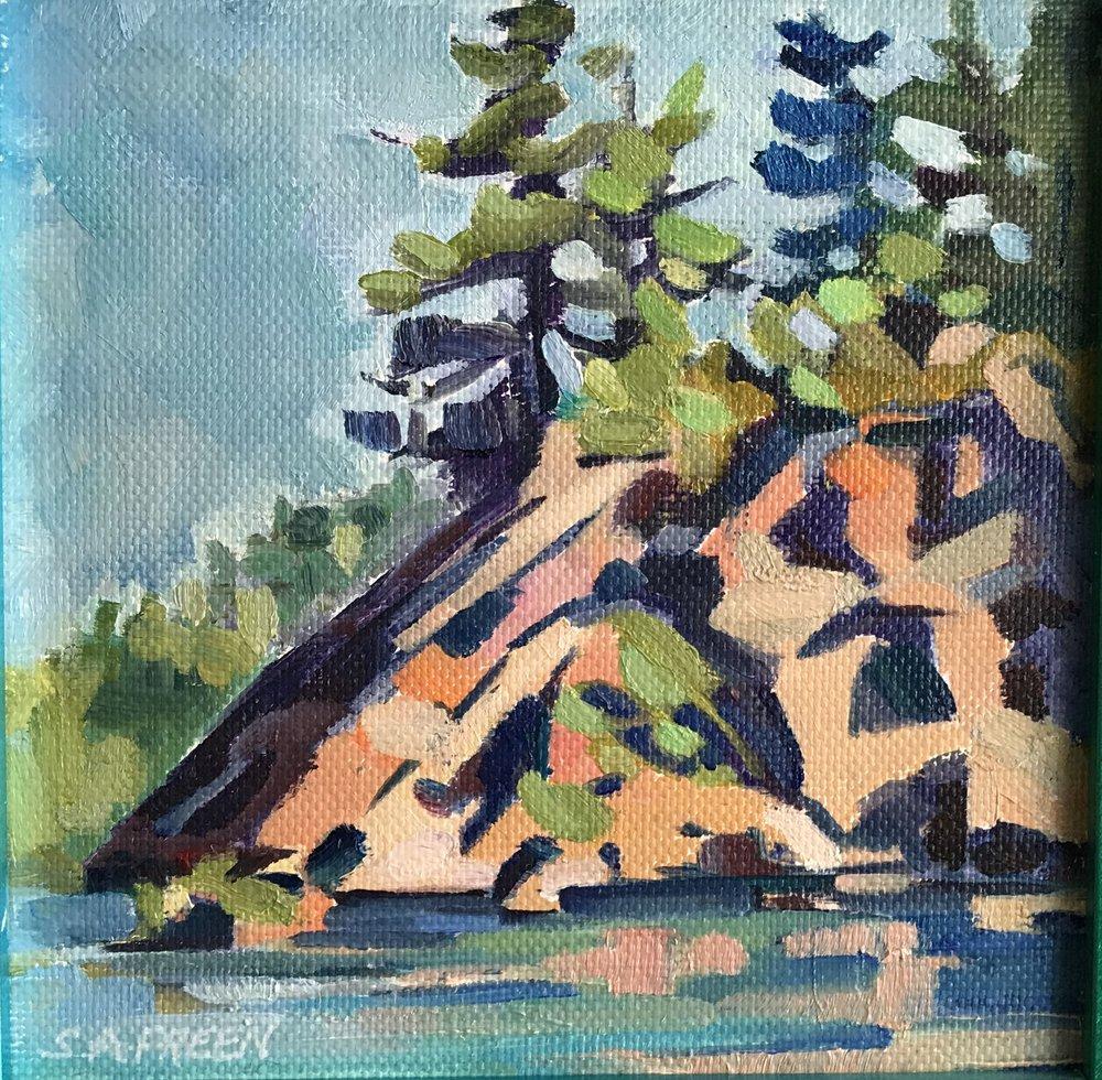 "Original Study #101  0.4"" x 0.4"", oil on canvas, framed"