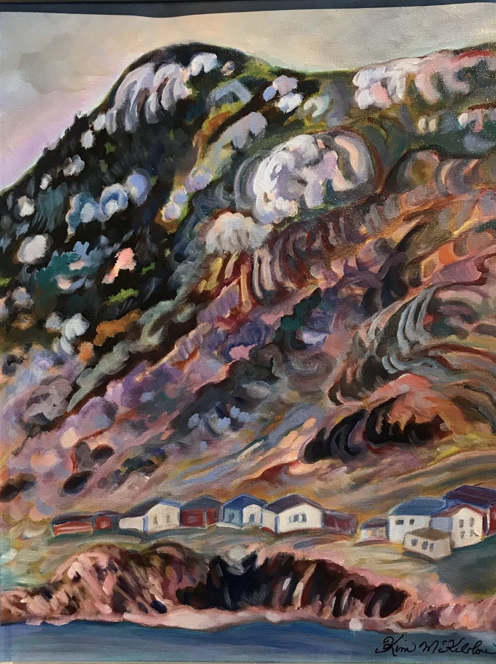 Loving St. John's  1.8 x 1.5, acrylic on canvas, framed