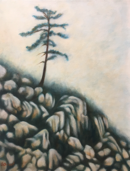 Tree on the Hill  Oil