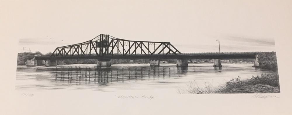 "Manitoulin Bridge  8""x 19"", print, unframed"