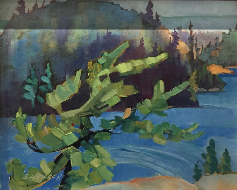Autumn Dance  8 x 10, oil on birch panel, framed