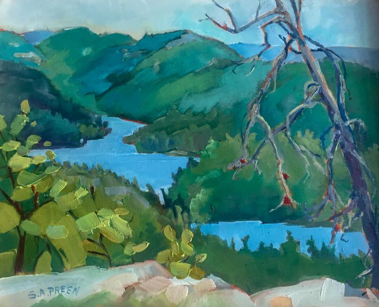 Summer's Passage  8 x 10, oil on birch panel, framed