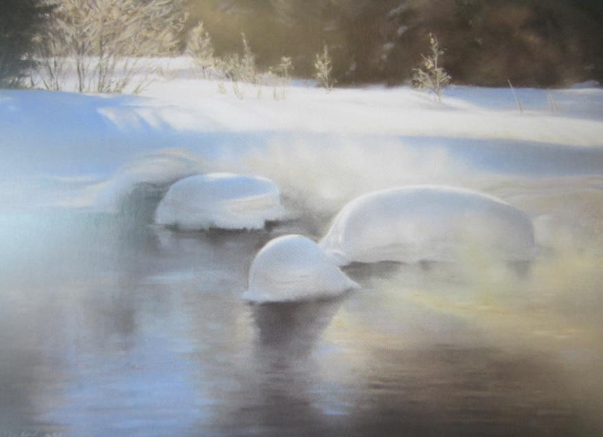 "Shape Shifters (Junction Creek)  10"" x 12"", pastel print, framed"