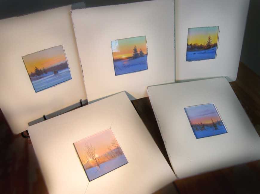 "Winter Series  10"" x 10"", pastel, framed"