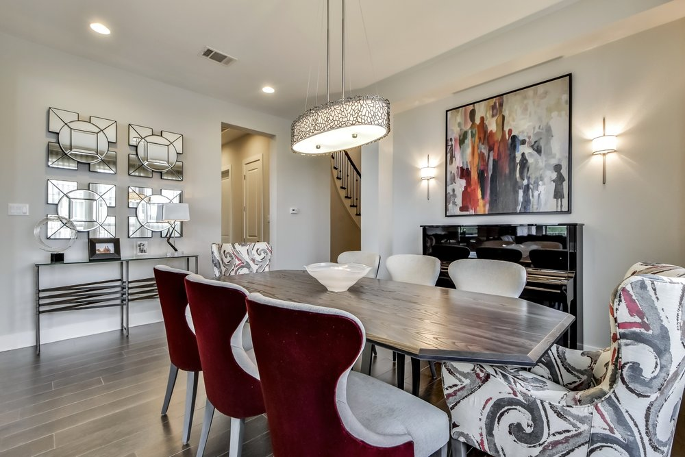 Red Dining Room Interior Design