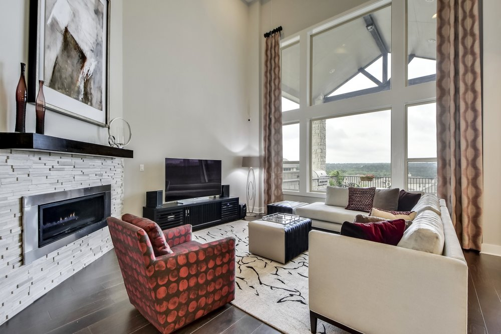 Living Room Interior Design Austin Texas