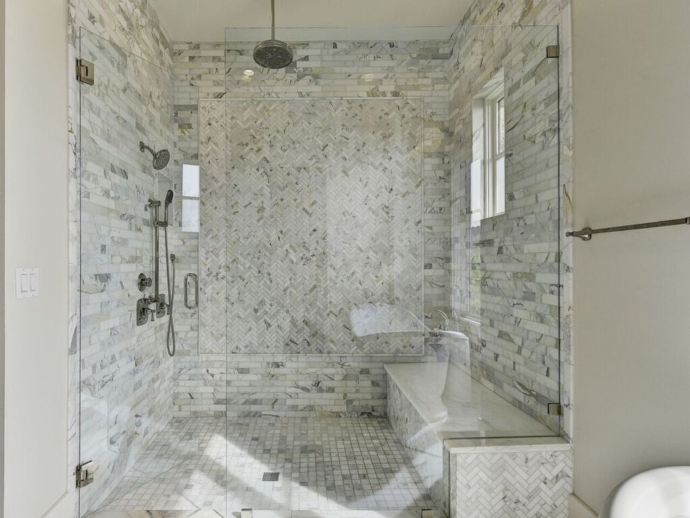 Shower Mosaic Marble Tile Design