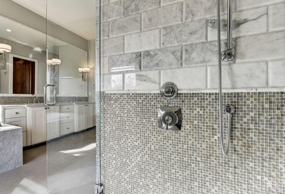 Gray Subway Tile Shower