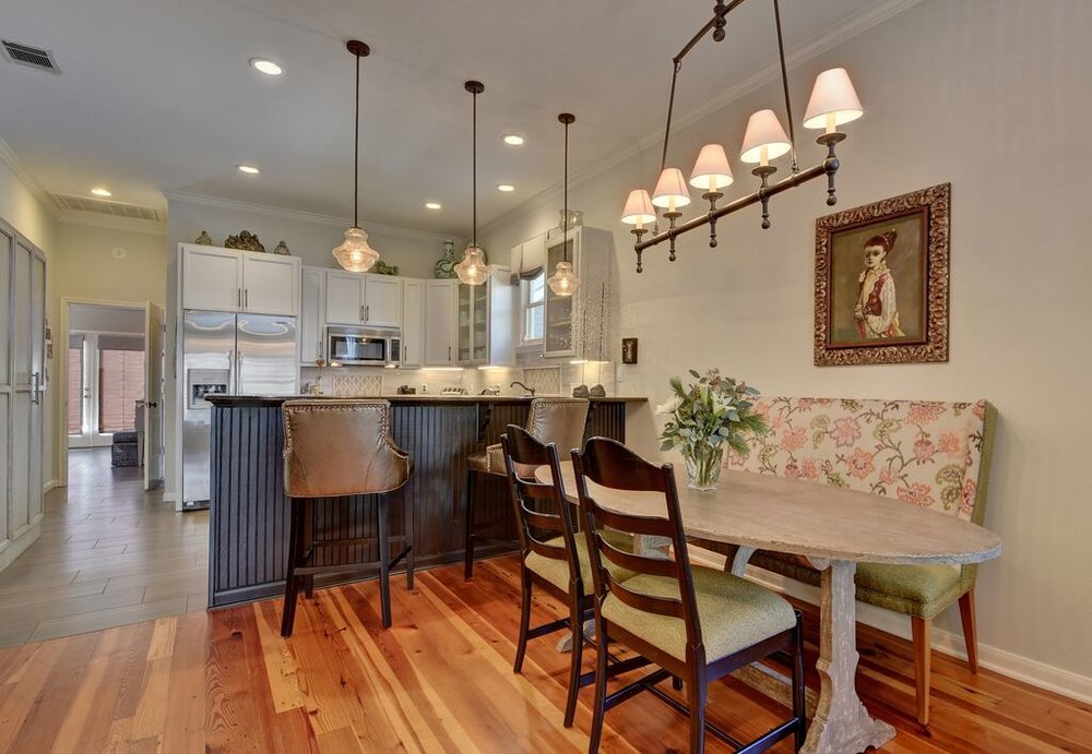 European style dining room with cool dining room light fixtures