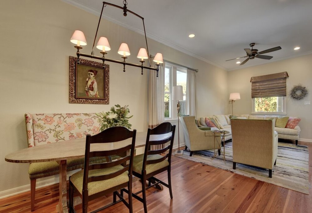 Dining room table for 4 with European Chandelier