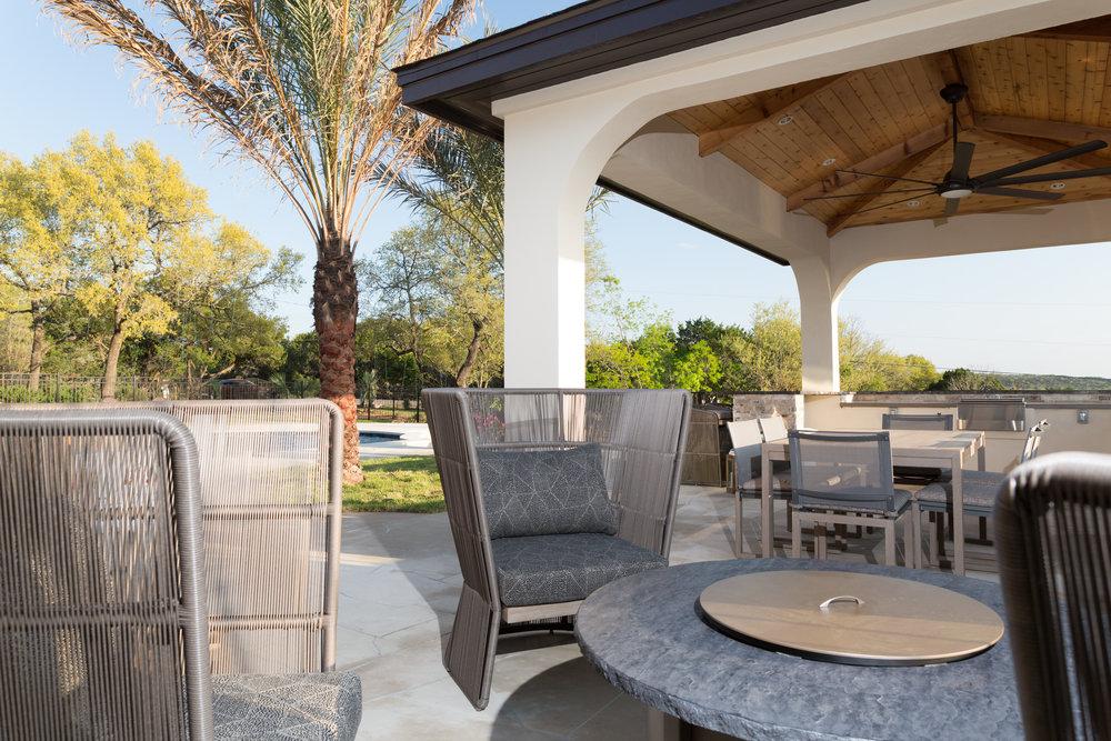 Outdoor Cabana Seating Austin