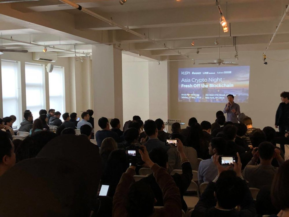 Asia Crypto Night in NY: Fresh off the Blockchain - May 13th, 2018 / @New York- Alex Shin, Partner of #Hashed- ICON- Line- Kakao