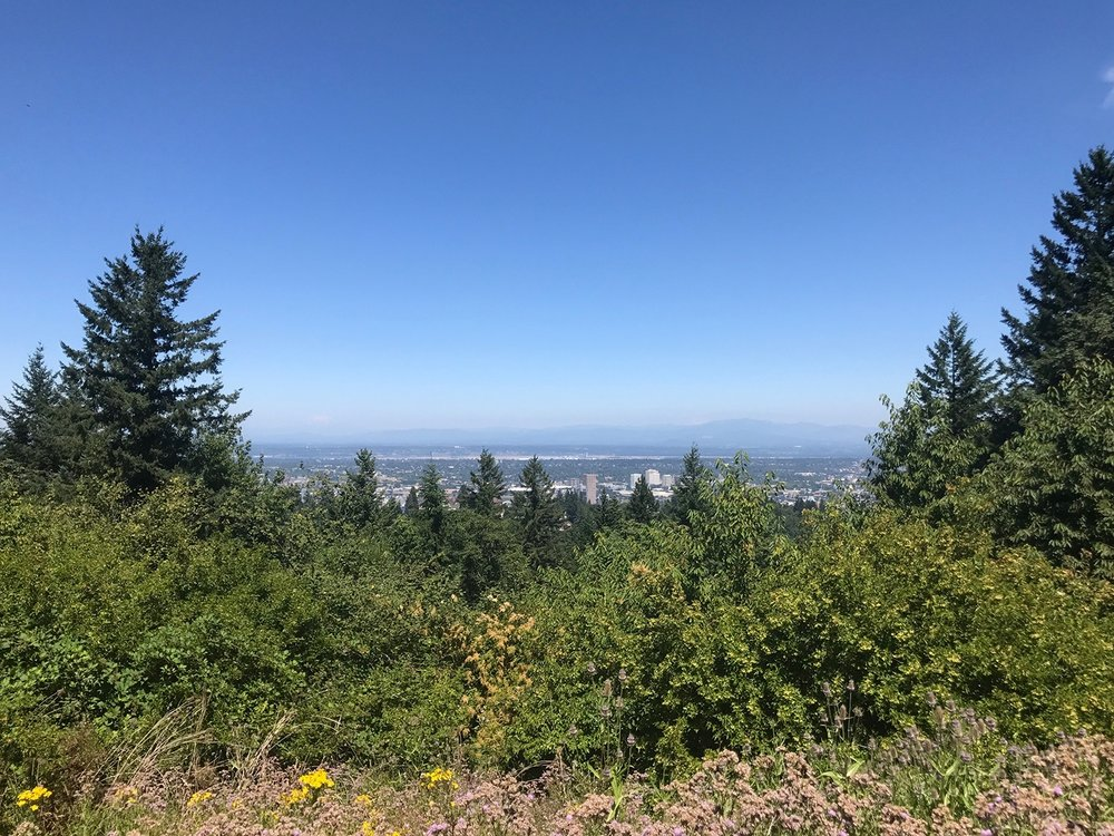 View of Downtown Portland from Council Crest Park